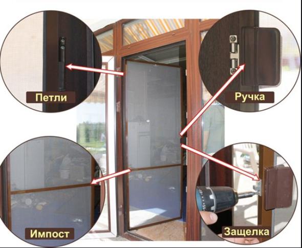 Дверная москинтая сетка